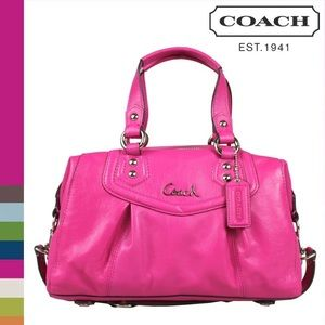AUTHENTIC COACH ASHLEY F15447 LEATHER 2-WAY